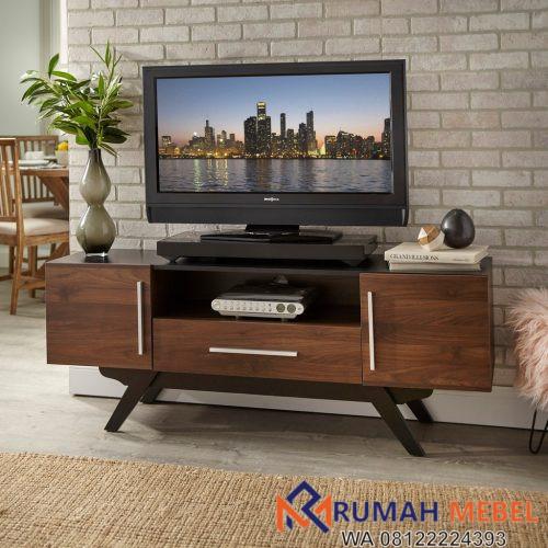 Meja TV Kayu Jati Minimalis