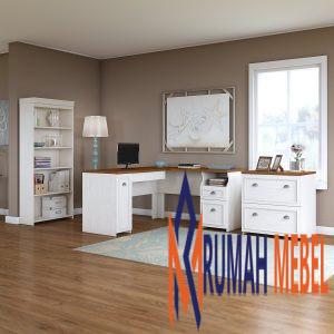 Meja Kantor Komputer Warna Putih Murah