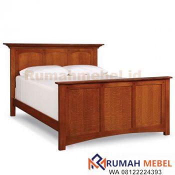 Tempat Tidur Kayu Minimalis Modern