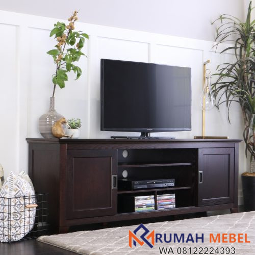 Meja TV Kayu Model Minimalis