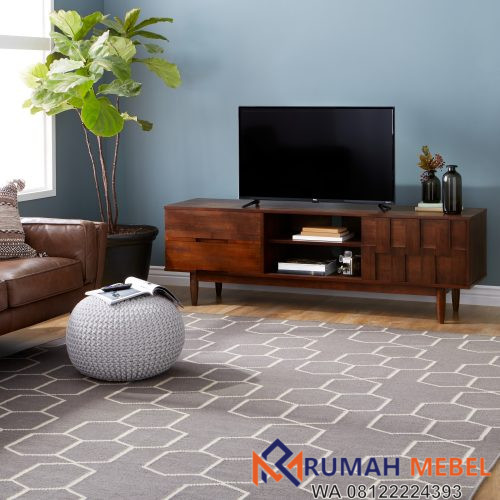 Rak TV Kayu Model Minimalis