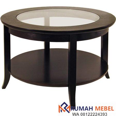 Meja Coffee Table Bulat   Rumahmebel.id