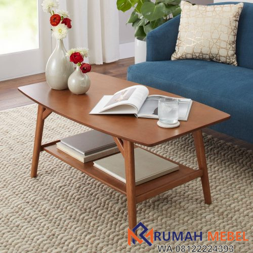 Meja Coffee Table Minimalis Jati