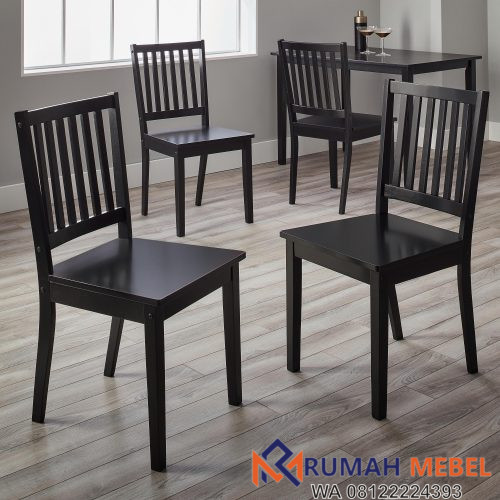 Kursi Cafe Minimalis Finish Hitam