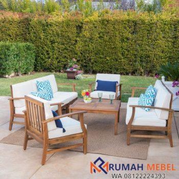 Set Kursi Makan Sofa Outdoor