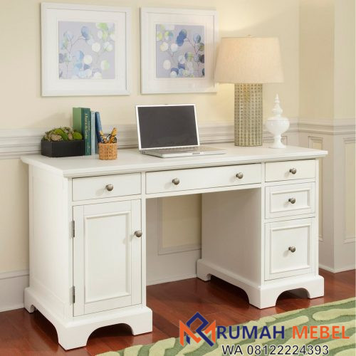 Meja Komputer Minimalis Warna Putih