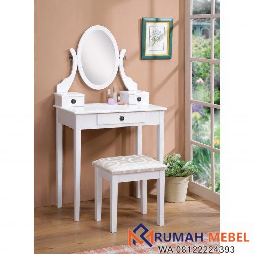 Meja Rias Kecil Minimalis Warna Putih