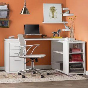 Meja Kerja Minimalis Di Rumah Warna Putih