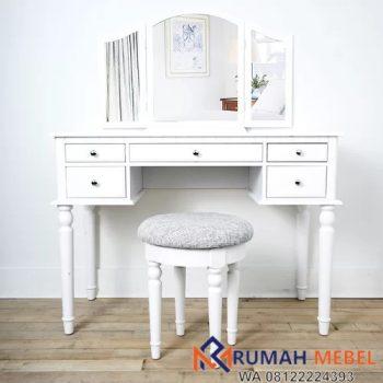 Meja Rias Wanita Minimalis Warna Putih