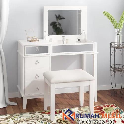 Meja Rias Simple Minimalis Warna Putih