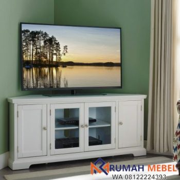 Rak TV Simple Modern Warna Putih
