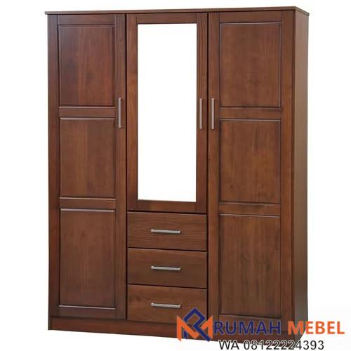 Lemari Pakaian Cermin 3 Pintu