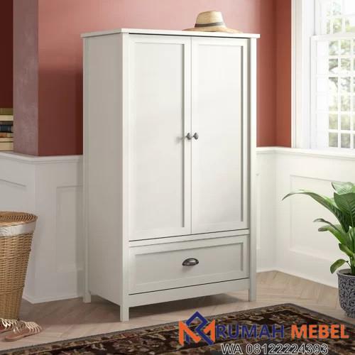 Lemari Pakaian 2 Pintu Minimalis Warna Putih