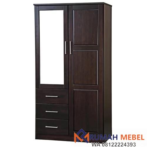 Lemari Baju 2 Pintu Dengan Cermin Rumah Mebel