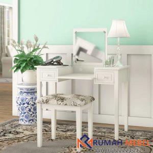 Meja Rias Wanita Warna Putih Minimalis