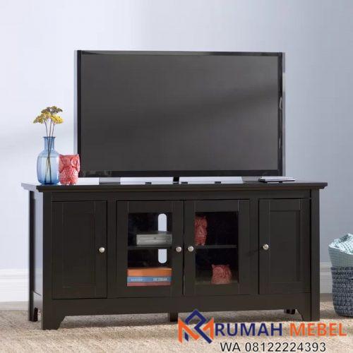 Meja TV Minimalis Modern Warna Hitam