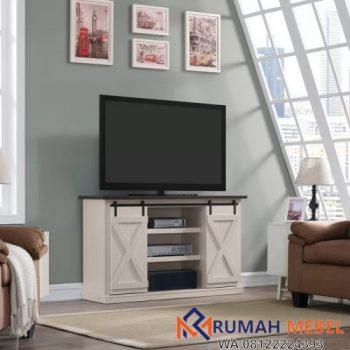 Lemari TV Minimalis Modern Pintu Sliding