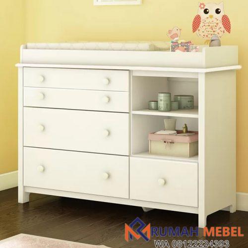 Baby Tafel Modern 3 Laci Warna Putih