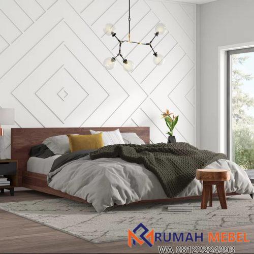 Tempat Tidur Rendah Minimalis Kayu