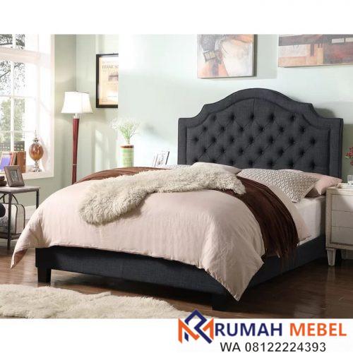 Tempat Tidur Modern Rangka Kayu Jati