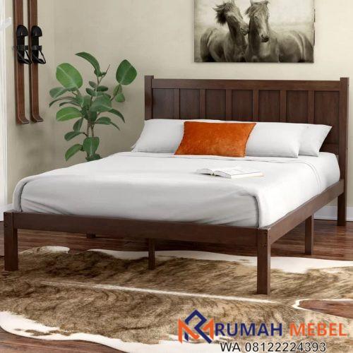 Tempat Tidur Sederhana Kayu Jati Terbaik