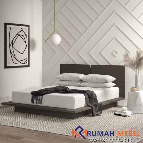 Tempat Tidur Minimalis Hitam