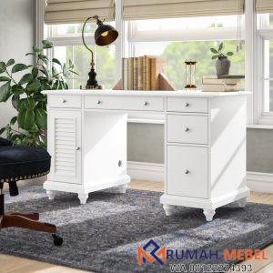 Meja Kerja Midland Minimalis Putih