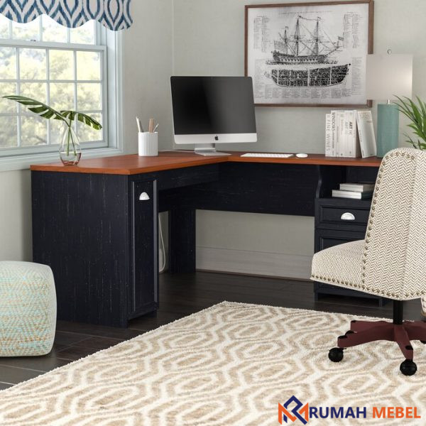 Meja Kantor Sudut Minimalis Modern