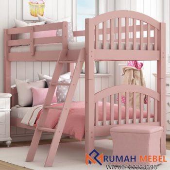 Tempat Tidur Tingkat Anak Perempuan Pink