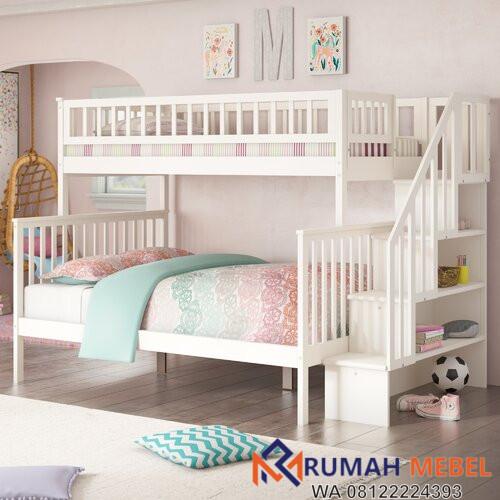 Tempat Tidur Tingkat Minimalis Shyann Putih