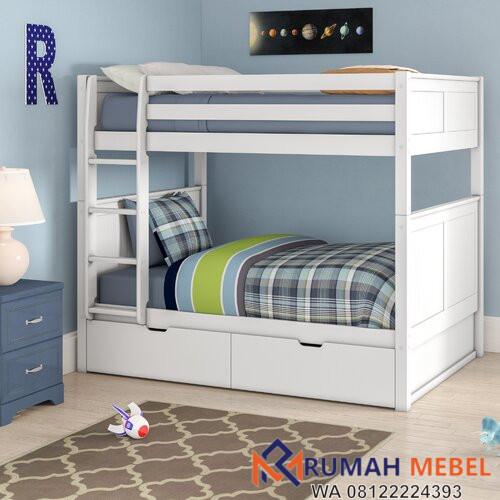 Tempat Tidur Tingkat Minimalis Dengan Laci