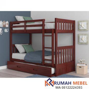 Tempat Tidur Tingkat Minimalis Dengan Sorong