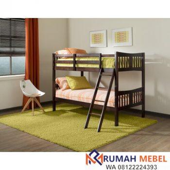 Tempat Tidur Susun Minimalis Zipporah Kayu Jati