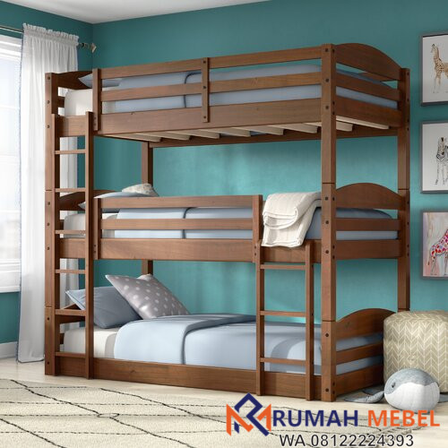 Ranjang Susun Anak Twin Bed Triple