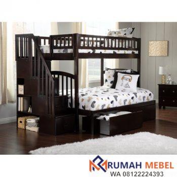 Ranjang Susun Twin Bed With Drawers