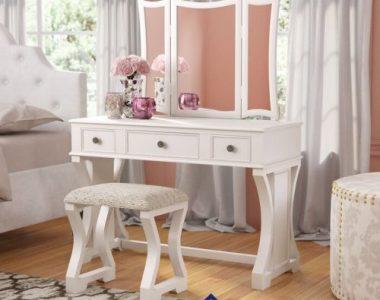 Meja Rias Minimalis Putih Lucca