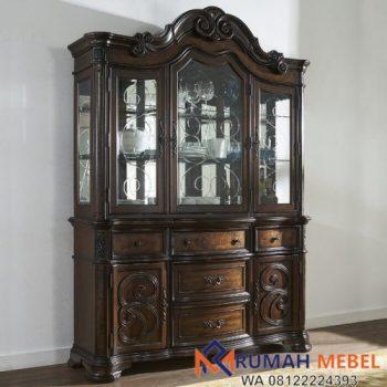 Lemari Hias Jati Mewah Royale