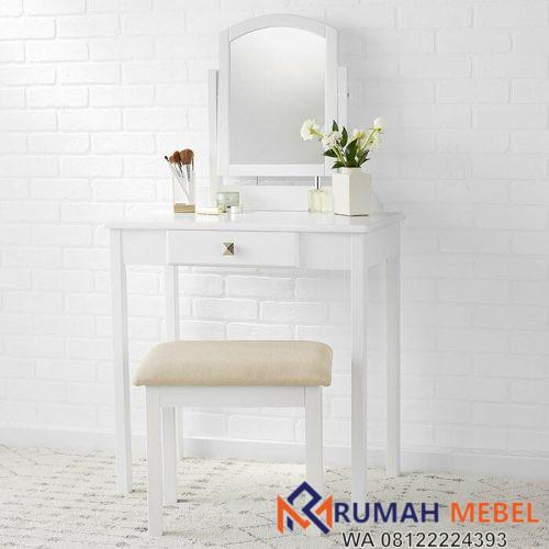 Meja Rias Sederhana Putih Gynell