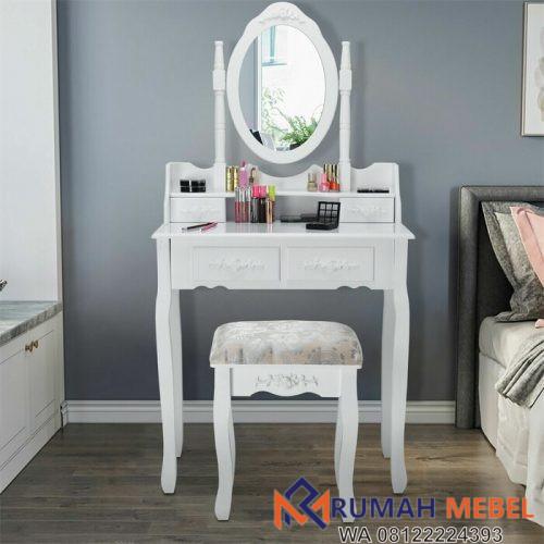 Meja Rias Putih Sederhana Edna