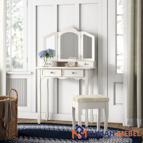 Meja Rias Minimalis Modern Putih Cargo