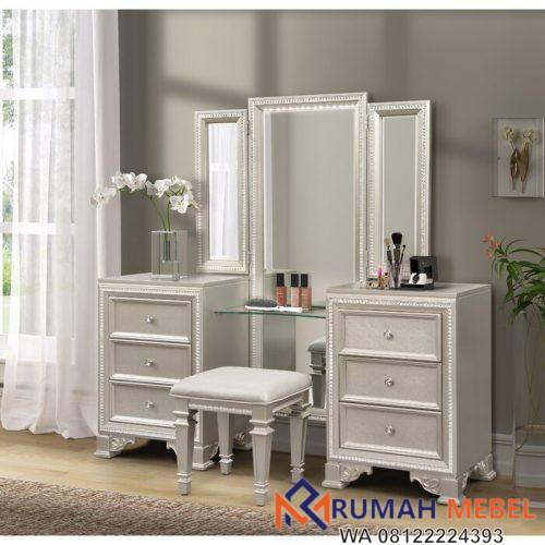 Meja Rias Putih Mewah Tiffany
