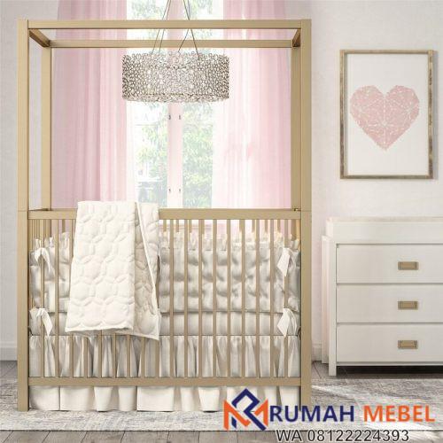 Tempat Tidur Bayi Kanopi Monarch