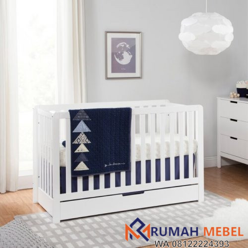 Tempat Tidur Bayi Penyimpanan Colby