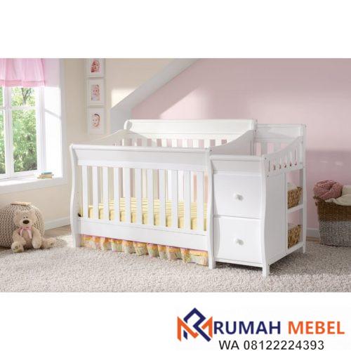 Tempat Tidur Bayi Naomi Putih