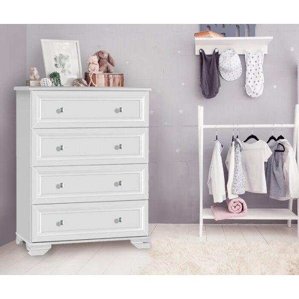 Lemari Baju Bayi Laci Minimalis Putih