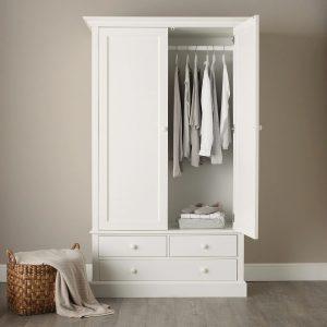 Lemari Pakaian Minimalis 2 Pintu Klasik