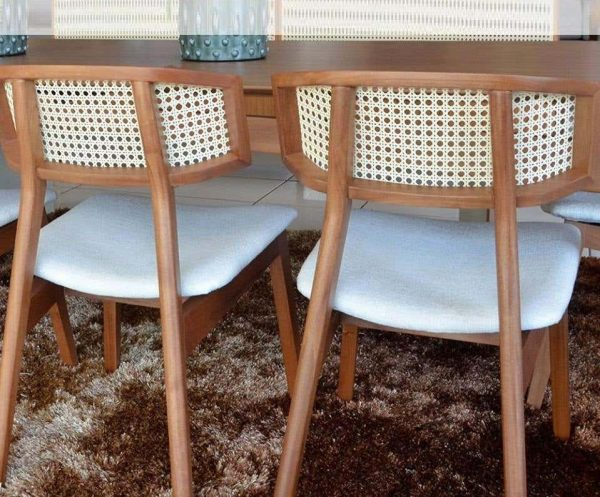 Kursi Cafe Rotan Kayu Jati Modern