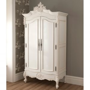Lemari Baju Gantung Putih La Rochelle 2 Pintu