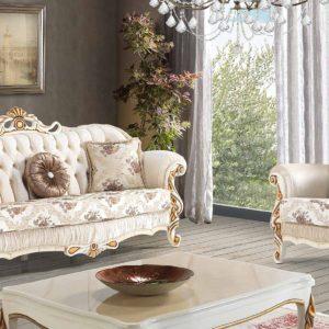 Set Kursi Sofa Klasik Mewah Larson