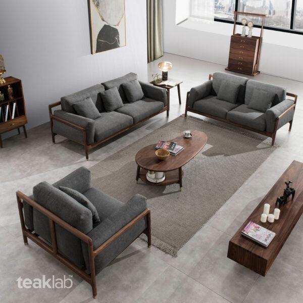 Sofa Ruang Tamu Modern Kayu Jati